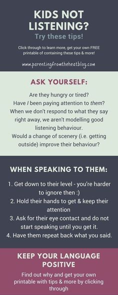 Kids not listening? Your kids will listen if you use these two strategies. Great positive parenting strategies for parents with young kids, toddlers, and preschoolers. #parentingadvicegirls