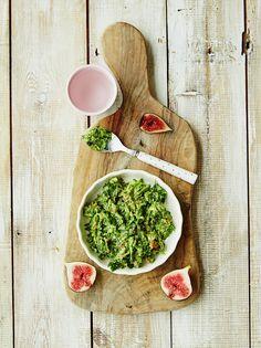 Michela's avocado, fig & spinach (no cook)