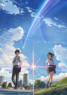 Makoto Shinkai's Kimi no Na wa./your name Film Reveals Lead Characters in New Visuals - News - Anime News Network