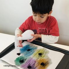 This simple Valentine's Day activity is perfect for building fine motor skills and color recognition. for toddlers Color Surprise Hearts Activity * ages ⋆ Raising Dragons Toddler Learning, Toddler Fun, Toddler Crafts, Preschool Crafts, Crafts For Kids, Infant Activities, Learning Activities, Fine Motor Preschool Activities, Color Activities For Toddlers