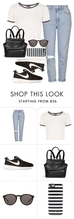 """""""Untitled #443"""" by anassantos ❤ liked on Polyvore featuring Topshop, NIKE, Givenchy, Yves Saint Laurent and Kate Spade"""