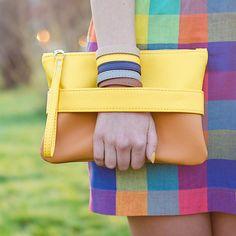 """Оранжевая сумка """"CarryMe"""", оранжевый клатч"""