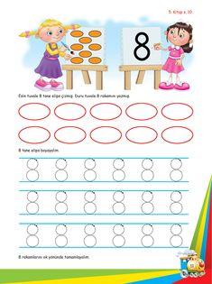 Okul Öncesi Etkinlik Mutlu Çocuklar Sokağı - Ek Kitapçık Lessons For Kids, Math Lessons, Fun Math, Alphabet, Kids Rugs, Teacher, School, Books, Baby