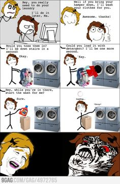 Laundry Rage ~ I wonder if this would work with Lilli's other chores too?