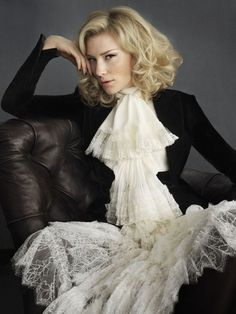Cate Blanchett's outfit is amazing. She rocks that cravat!