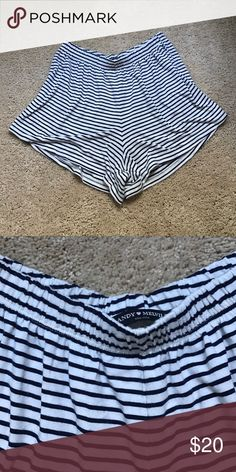 Brandy Melville striped shorts Super cute and soft. Can wear them out or just lounging around. Great condition :) Brandy Melville Shorts