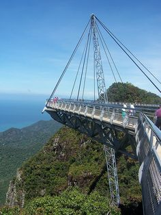 Scary Suspended Walkway, Langkawi Island Malaysia