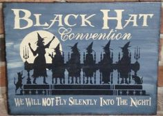 Witchcraft primitive witch Black hat convention Sisterhood sign Primitives Witches Wiccan Halloween decoration coven wicca magic sisters  by SleepyHollowPrims, $24.30 USD