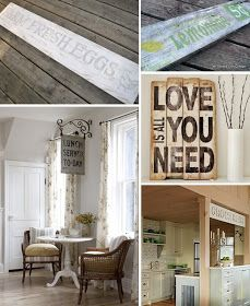 Modern Country Designs: Modern Country Home Wood Signs