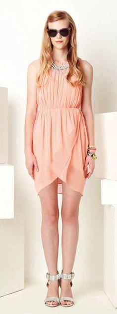 Greylin Rachel Tulip Dress in Peach at Thera M.