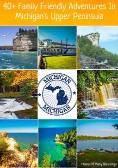 Michigan's Upper Peninsula is an amazing place to visit, it has over 150 different waterfalls, 400+ types of birds, huge rock cliffs, mountains, and many other memorable things to see. A great list of over 40 family friendly adventures in Michigan Upper Peninsula.