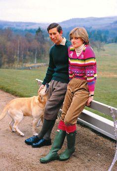 Charles and Diana on honeymoon