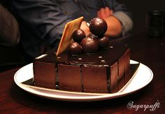 V8 Diesel from Adriano Zumbo. A must try, 8 layers of ChOOOOOcoLatE http://www.sugarpuffi.com/2011/07/suminoya-and-v8-diesel-cake.html