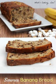 S'mores Banana Bread - Whats Cooking Love?