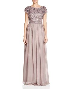 Decode 1.8 Beaded Bodice Chiffon Evening Gown - Compare at $298