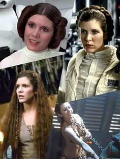 ( Princess Leia Organa) Carrie Fisher from the movie Star Wars: A New Hope. Star Wars: The Empire Strikes Back. Star Wars: Return Of The Jedi.