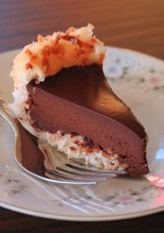 Chocolate Macaroon Pie | #glutenfree #grainfree
