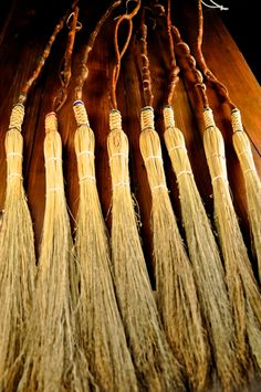 Fancy Appalachian Handmade Cobweb Brooms by Mark Hendry for Organic Artist Tree, Blue Ridge, GA 30513