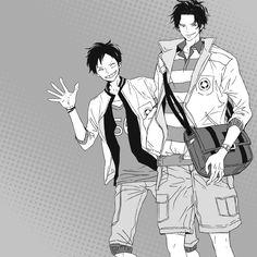 One piece - Ace & Luffy One Piece Ace, Zoro, Kaze No Stigma, Ace Sabo Luffy, High School Life, Nisekoi, Kaichou Wa Maid Sama, One Piece Images, One Piece Fanart