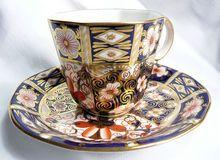 Royal Crown Derby Imari Pattern Demitasse Coffee Cup and Saucer on Ruby Lane