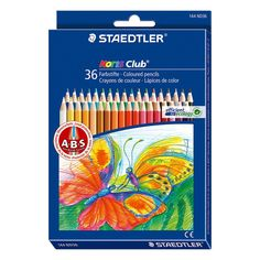 Staedtler Noris Club 144 Nd36 Colored Pencil 36 Assorted Colors In Cardboard Box