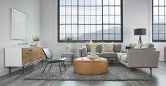 Charme Tan Timpani Leather Ottoman | Article Furniture Direct, High Quality Furniture, Modern Furniture, Outdoor Furniture Sets, Plywood Furniture, Furniture Design, Leather Lounge, Leather Ottoman, Tan Leather