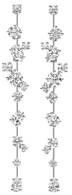 Nightlife by Harry Winston, Long Drop Diamond Earrings.