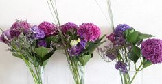Composition graphique Hortensias et arums www.lapetiteboutiquedefleurs.fr