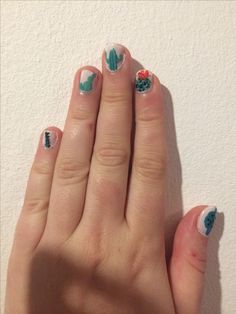 Cactus inspired nails