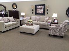 Cindy Crawford Calista Microfiber Sofa Living Room Ideas
