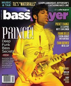 Prince on cover of Bass Player Magazine
