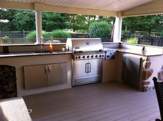 Our outdoor kitchen on a budget! Bought everything off Craigslist over a year and a half and built for only $2,800!