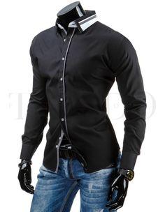 Pánská stylová košile - James, černá Motorcycle Jacket, Jackets, Fashion, Moda, Fashion Styles, Fashion Illustrations, Biker Jackets, Jacket, Fashion Models