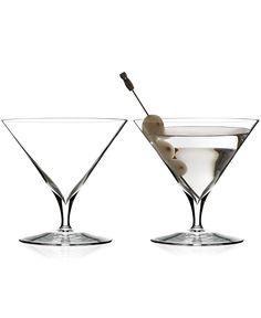 Shaken, not stirred! Waterford Elegance Martini Glass Pair