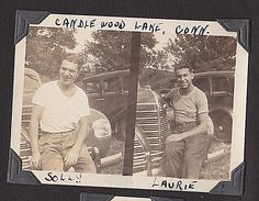 Solly and Larry, Candlewood Lake, 1939