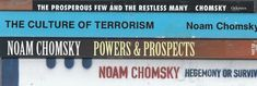 Noam Chomsky X4 lot Hegemony or Survival Powers Prospects Terrorism Prosperous