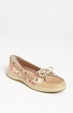Floral Sperry Top-Sider. Boat Shoes. So cute! I should get this pair next :)