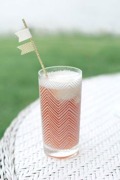 A chevron drink to match your chevron wedding.