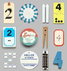 2014. Objects found on desks.