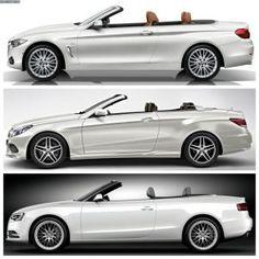 BMW 2017: Bild-Vergleich-BMW-4er-Cabrio-F33-Mercedes-E-Klasse-Audi-A5-03…  Mercedes Benz