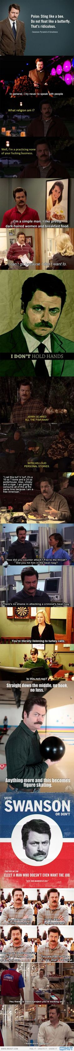 I don't watch parks and rec much, but when I do, my favorite parts always seem to involve him. haha