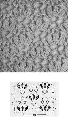 Hallo Ladies,     erst einmal: DANKE    *strahlübersganzeGesicht     ... für so viele liebe Kommentare   zum letzten post von euch. ... Crochet Motifs, Crochet Diagram, Crochet Stitches Patterns, Crochet Chart, Crochet Lace, Stitch Patterns, Knitting Patterns, Crochet Scarves, Crochet Clothes