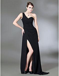 MARIAM - Vestido de Noche de Gasa y Satén