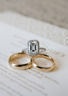 sparkle and shine | wedding rings