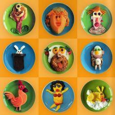 De schrijvers, Bill en Claire Wurtzel, hebben het boek Funny Faces voornamelijk gemaakt met de achterliggende gedachte dat het zo een stuk makkelijker is om eten aan kinderen voor te schotelen.  Boek gespot op www.culy.nl