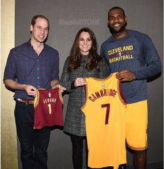 Prince William Kate Middleton Lebron James