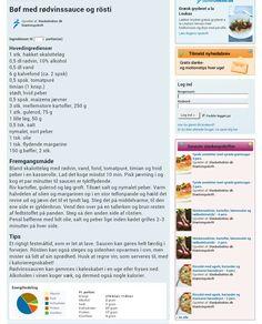 Bøf med rødvinssauce & rösti