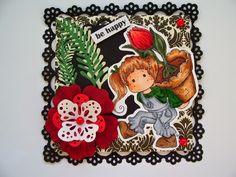 Márcia - cartões: Aniversário com Magnolia - Cartão esquecido....