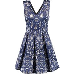 Markus Lupfer Daria pleated printed satin mini dress (€325) ❤ liked on Polyvore featuring dresses, short fitted dresses, pleated mini dress, blue satin dress, blue dress and fitted dresses