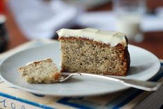 clementine bakery's banana cake, called the holy grail of banana cakes, with a cream cheese and creme fraiche frosting